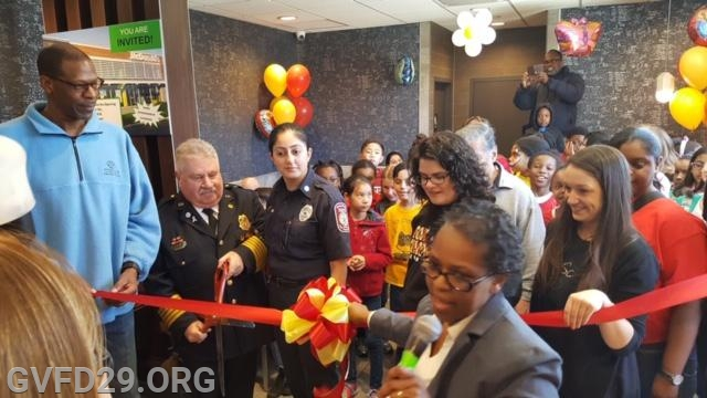 With a packed restaurant we prepare to cut the red ribbon to reopen the Fox Chapel McDonald's.